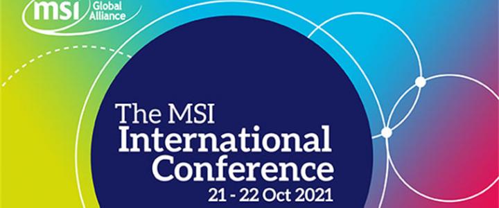 MSI International Conference blog
